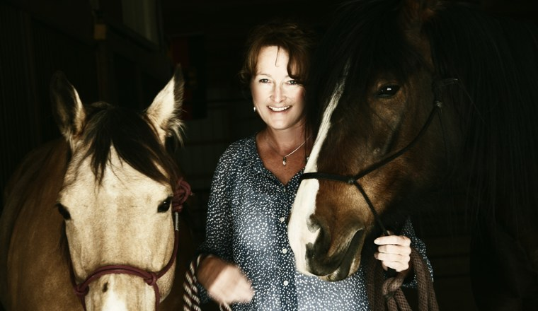 Kathy with Horses