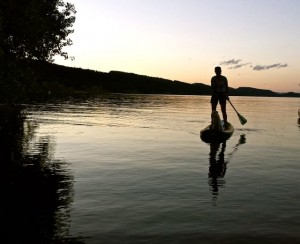 It was dusk and the water was a delightful break from the hot land.